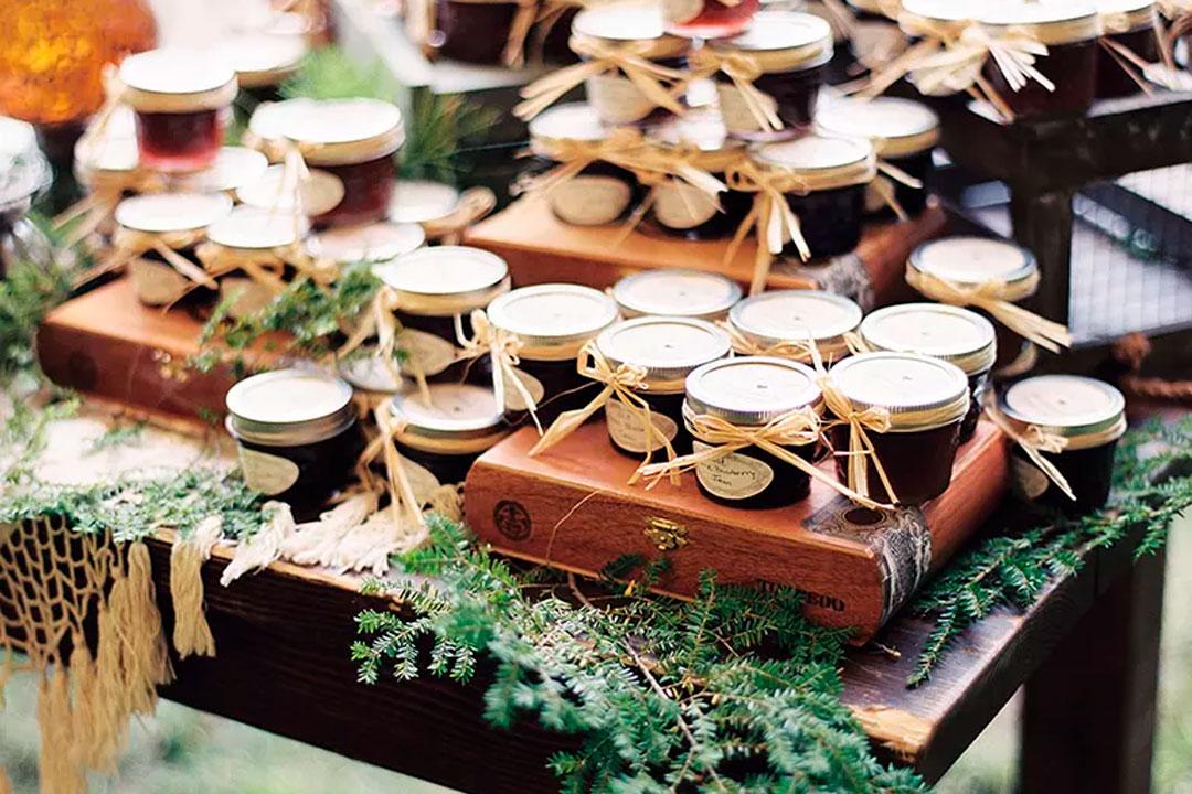 casamento rustico potes de doces