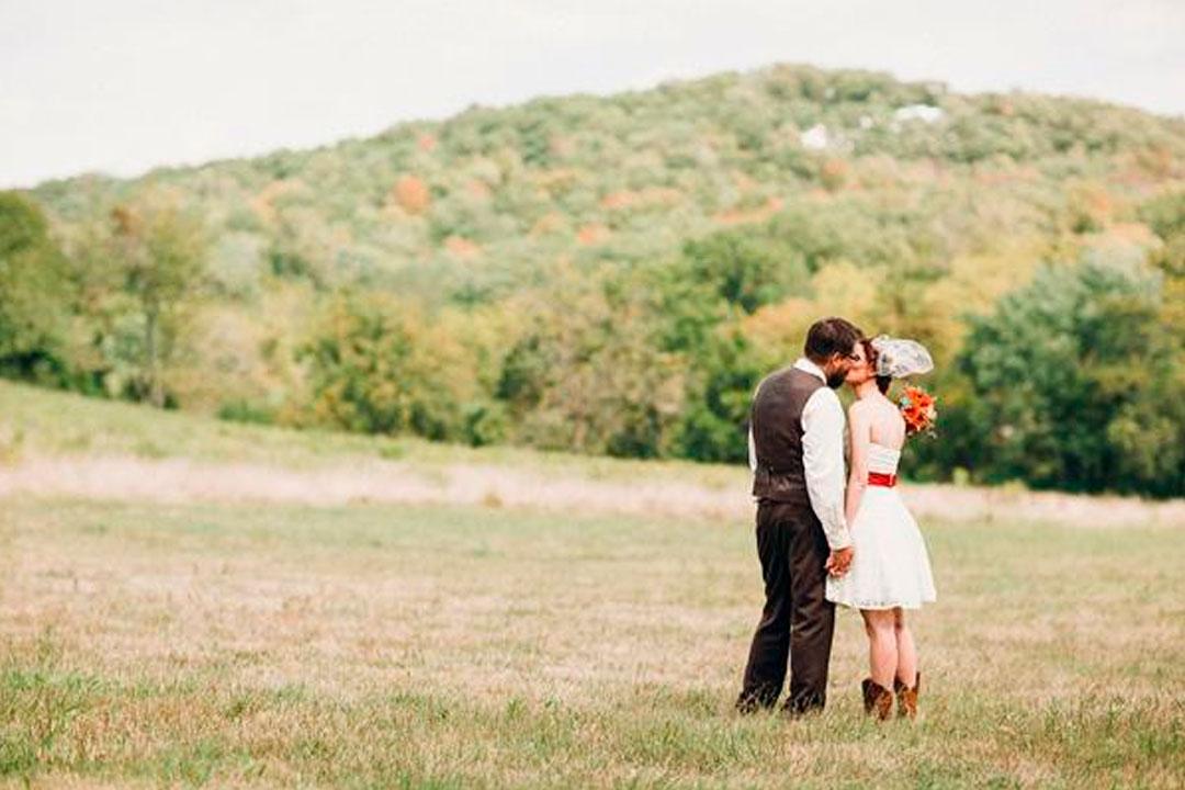 casamento no campo montanhas casal